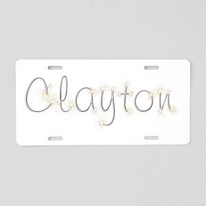 Clayton Spark Aluminum License Plate