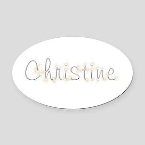Christine Spark Oval Car Magnet