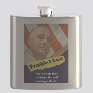 The Nation That Destroys - FDR Flask