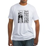 Pit Bulls: Don't Breed Fitted T-Shirt