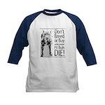 Pit Bulls: Don't Breed Kids Baseball Jersey