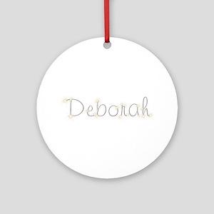 Deborah Spark Round Ornament