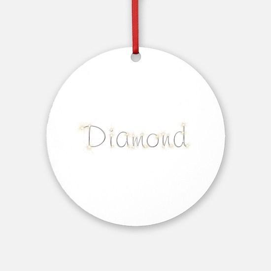 Diamond Spark Round Ornament