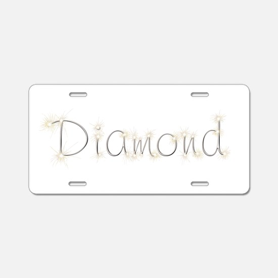 Diamond Spark Aluminum License Plate