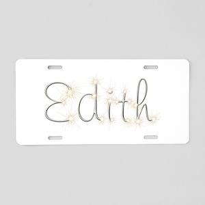 Edith Spark Aluminum License Plate