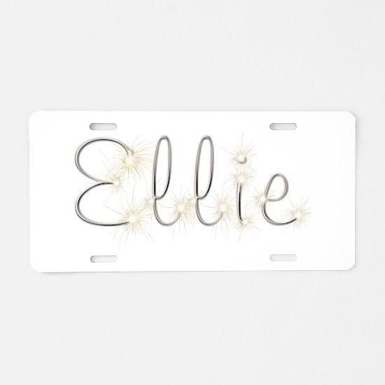 Ellie Spark Aluminum License Plate