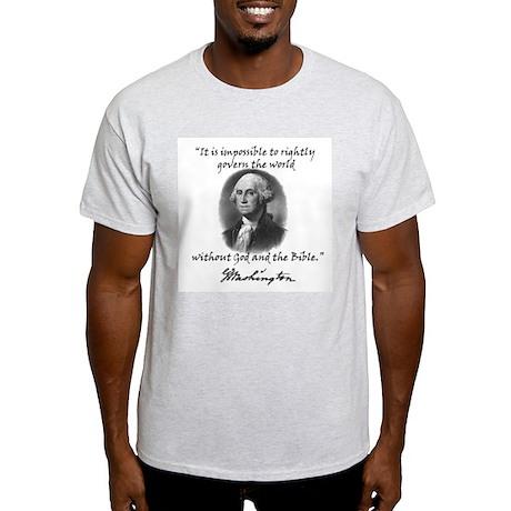 Washington God & Bible Quote Ash Grey T-Shirt
