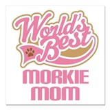 Morkie Square Car Magnets