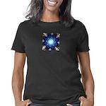 Techno-Blue Starburst Women's Classic T-Shirt