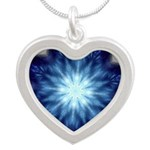 Techno-Blue Starburst Necklaces