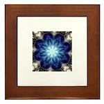 Techno-Blue Starburst Framed Ceramic Tile