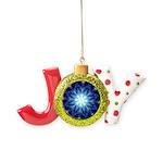Techno-Blue Starburst Joy Ornament
