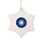Techno-Blue Starburst Snowflake Ornament