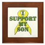 I Support My Son Framed Tile