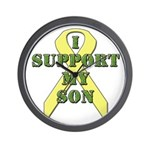 I Support My Son Wall Clock