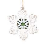 Mint Roads Rustic Snowflake Ornament