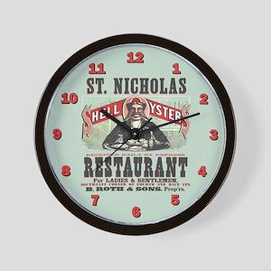 St. Nicholas Restaurant 1873 Wall Clock