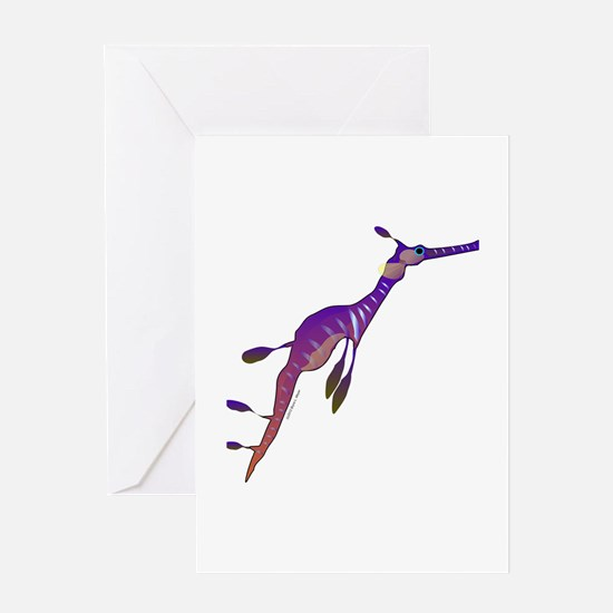 Weedy Sea Dragon fish Greeting Card
