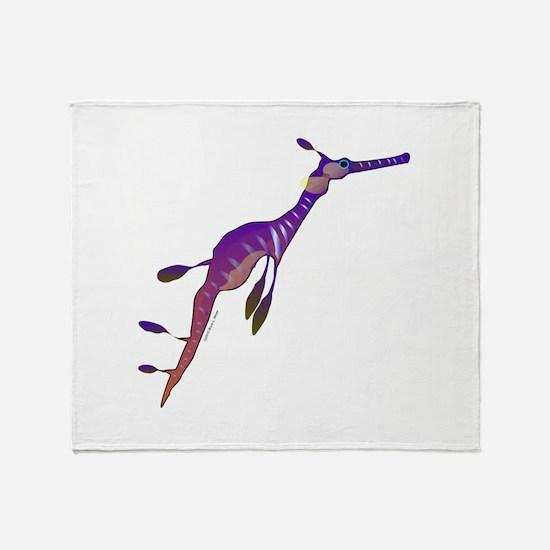 Weedy Sea Dragon fish Throw Blanket