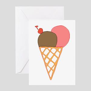 ice cream cone birthday Greeting Card