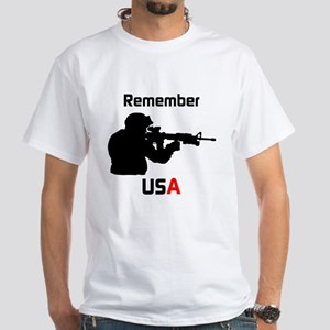 Remember USA Military White T-Shirt