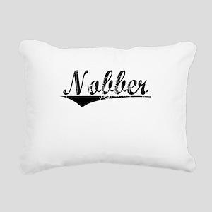 Nobber, Aged, Rectangular Canvas Pillow