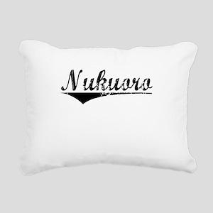 Nukuoro, Aged, Rectangular Canvas Pillow