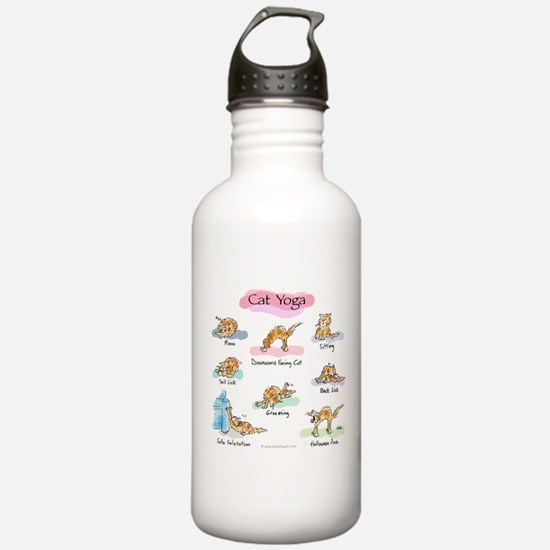 Cat YOGA POSES Sports Water Bottle