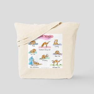 Cat YOGA POSES Tote Bag