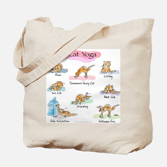 Cat YOGA POSES Tote Bag