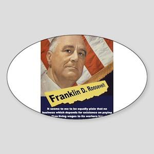 It Seems To Me - FDR Sticker (Oval)