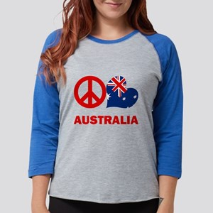 Peace Love Australia Womens Baseball Tee