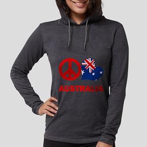 Peace Love Australia Womens Hooded Shirt