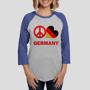Peace Love Germany Womens Baseball Tee