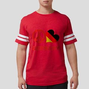 Peace Love Germany Mens Football Shirt