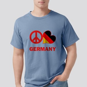 Peace Love Germany Mens Comfort Colors Shirt