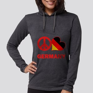 Peace Love Germany Womens Hooded Shirt