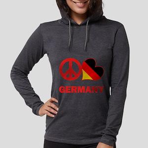 Peace Love Germany Womens Hooded Shirt