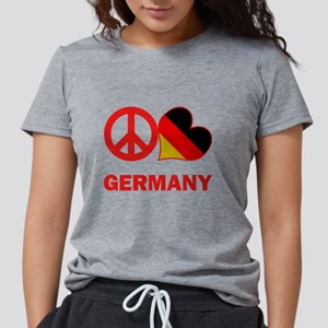 Peace Love Germany Womens Tri-blend T-Shirt
