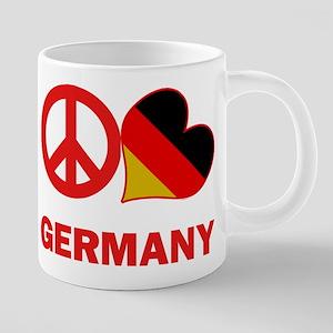 Peace Love Germany 20 oz Ceramic Mega Mug