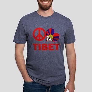 Peace Love Tibet Mens Tri-blend T-Shirt