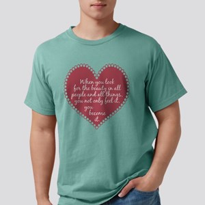 Inspirational Beauty Quote Mens Comfort Colors Shi