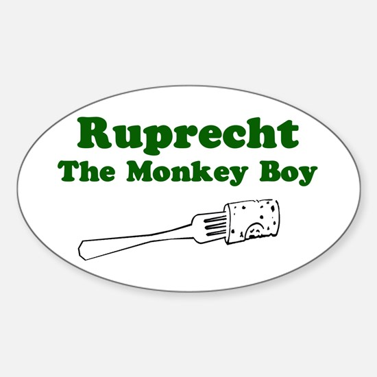 Ruprecht The Monkey Boy Oval Decal