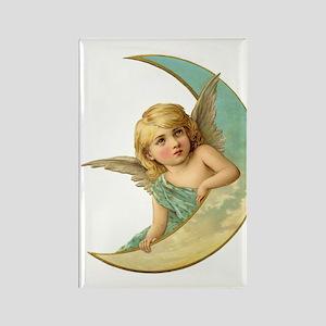 Moon Angel Rectangle Magnet