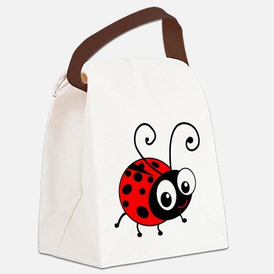 Cute Ladybug Canvas Lunch Bag