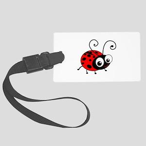 Cute Ladybug Large Luggage Tag