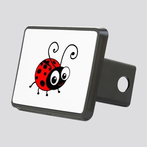 Cute Ladybug Rectangular Hitch Cover