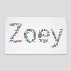 Zoey Paper Clips 3'x 5' Area Rug