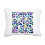 Star Stain Glass Pattern Rectangular Canvas Pillow