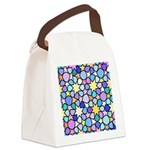 Star Stain Glass Pattern Canvas Lunch Bag